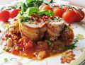 Roladki ze szpinakiem, serem camembert i boczkiem