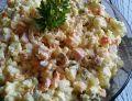Sałatka warzywna z kiełbasą