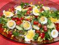 Sałatka z  pieczarkami i jajkiem