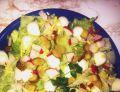 Sałatka z sałaty lodowej z mozzarellą wg. Irenki