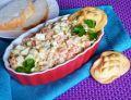 Sałatka z wędzonej makreli z oscypkiem