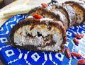 Śliwkowa rolada z ricottą i czekoladą