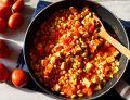 Soja z tofu w pomidorach