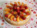 Torcik jogurtowy z chia i owocami