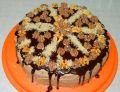 Tort urodzinowy kawowo-czekoladowy