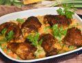 Udka pieczone w marchewce i groszku