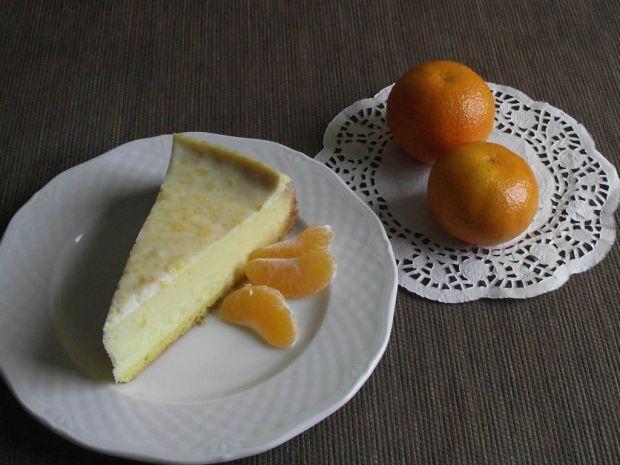 Aksamitny sernik z nutą mandarynki