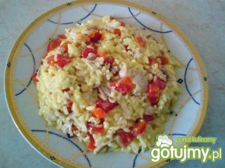A'la risotto z kurczakiem i papryką