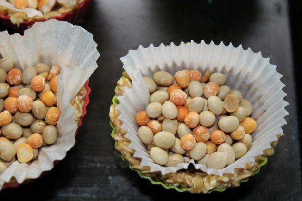 Babeczki owsiane z musem truskawkowym