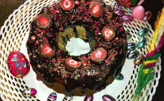 Babka piaskowa z czekoladą