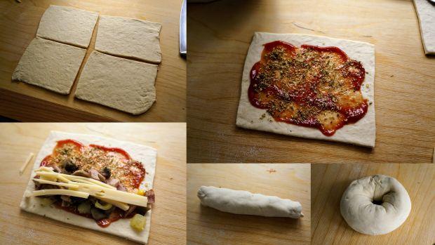 Bajgle pizzowe