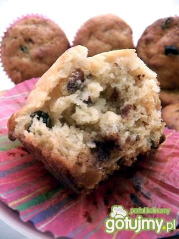 Bakaliowe muffinki z czekoladą