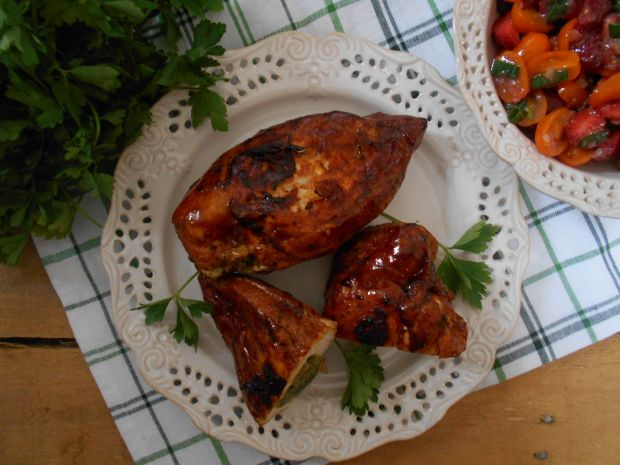 Balsamiczna pierś z kurczaka z cukinią