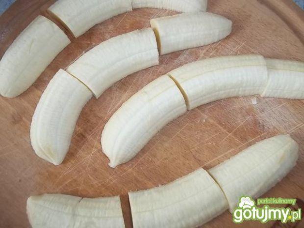 Banany grillowane z boczkiem i miętą