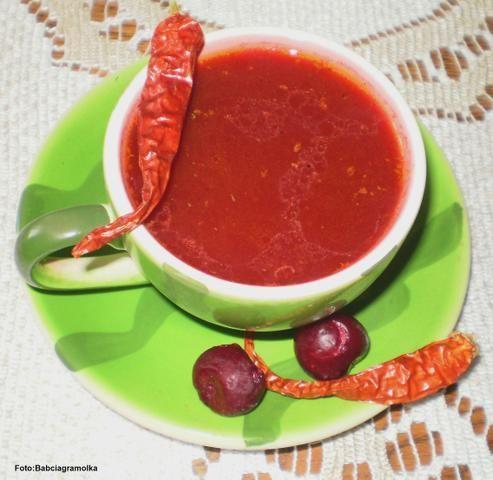 Barszcz czerwony o smaku wiśniowym :
