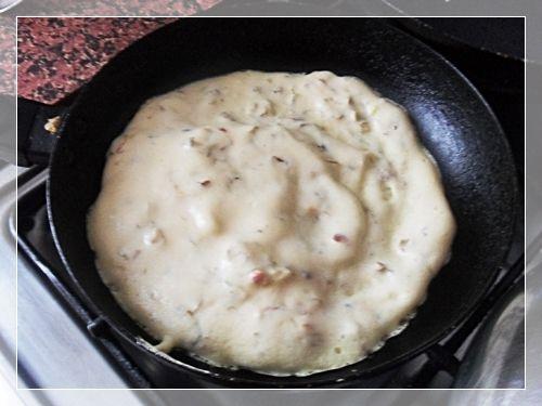 Bezglutenowy omlet ryżowy z kiełkami