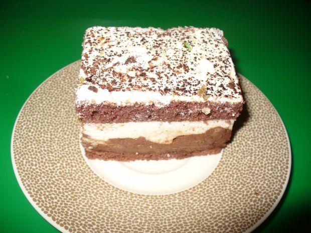 Biszkopt kakaowy z masą dwuwarstwowy
