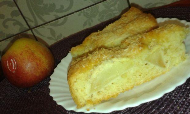 Biszkoptowe ciasto z jabłkiem