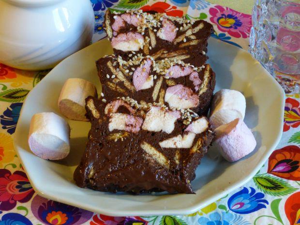 Blok czekoladowy z piankami marshmallow