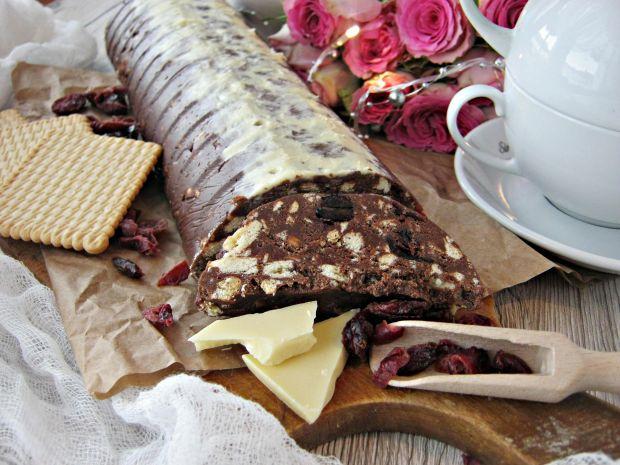 Blok czekoladowy z żurawiną