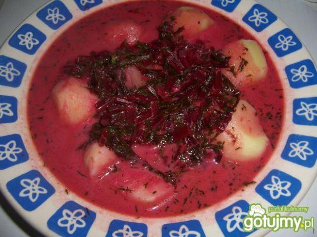 Błyskawiczna zupa z botwinki