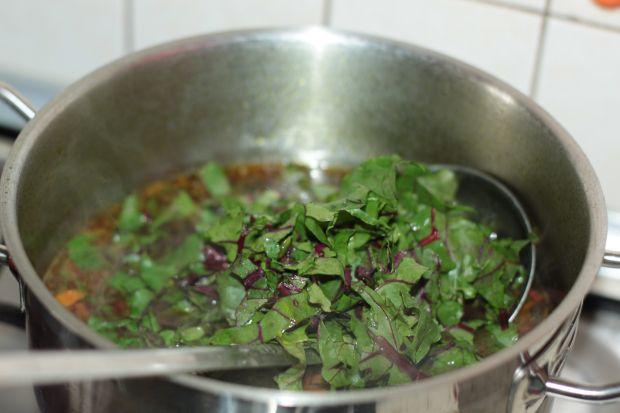 Botwinka na smażonych warzywach