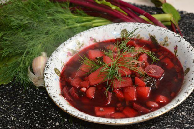 Botwinka z czerwoną fasolą
