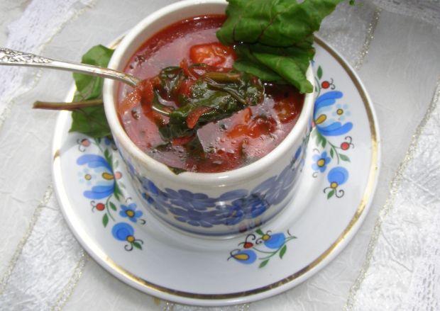 Botwinkowa zupa na maśle