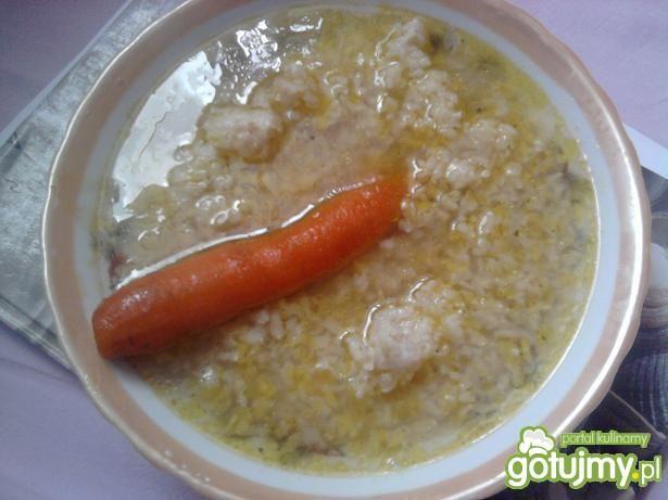 brązowy ryż z rosołem