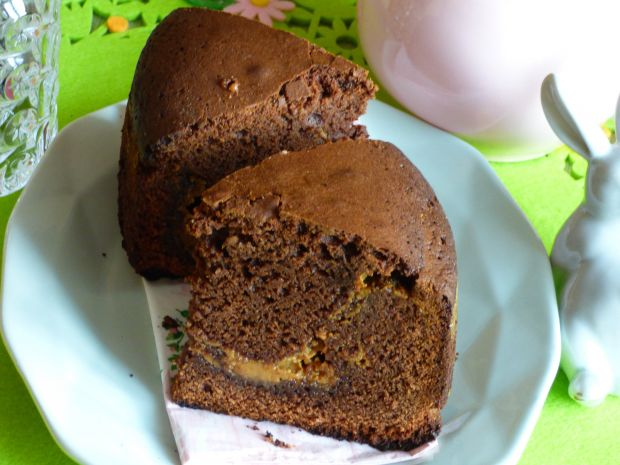 Brownie z kajmakiem