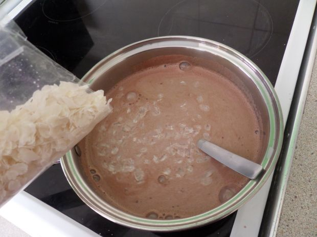 Budyń z płatkami ryżowymi
