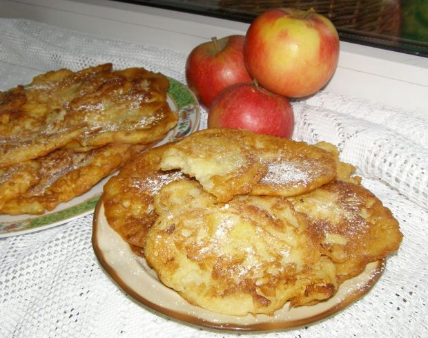Budyniowe placuszki waniliowe z jabłkiem...