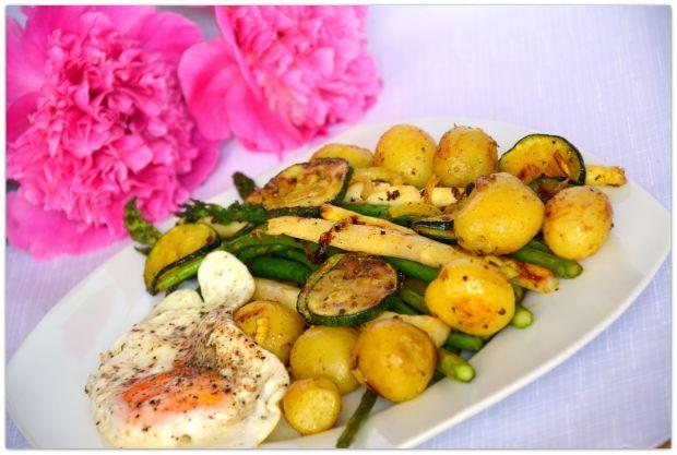 Bukiet wiosennych warzyw
