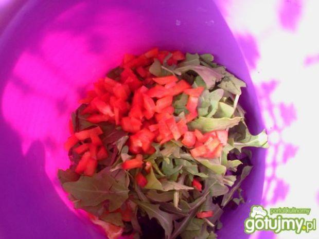 Burczaki z mandarynką i rukolą