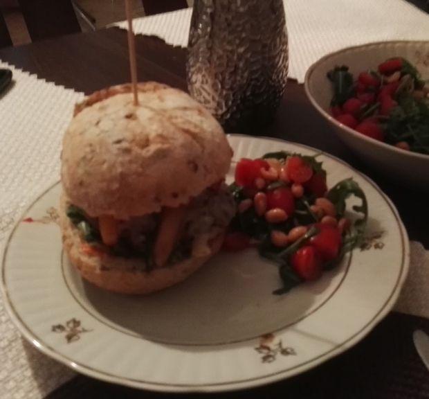 Burger krewetkowy