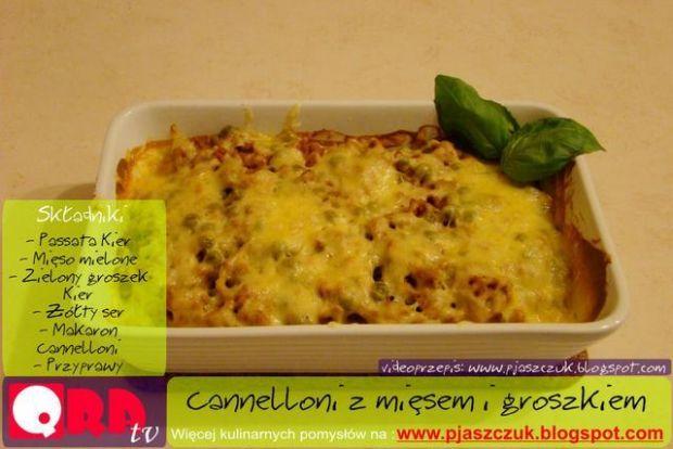 Cannelloni z groszkiem i mięsem mielonym