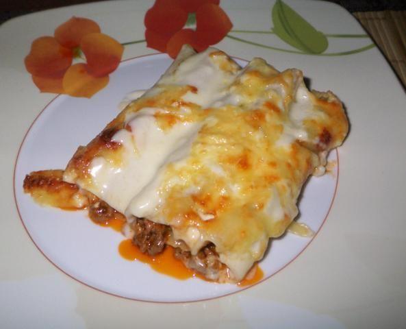 Cannelloni z mielonym i feta