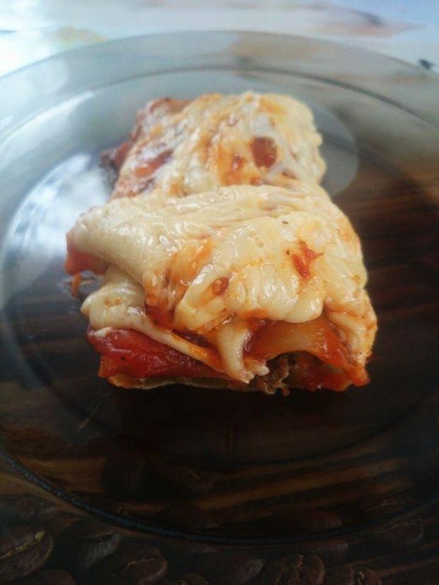 Cannelloni z mięsem mielonym.
