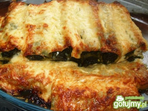 Cannelloni ze szpinakiem i serem feta