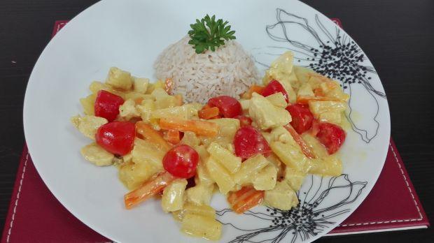 Chicken Thai z mleczkiem kokosowym i imbirem