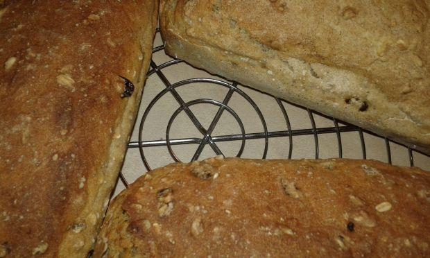 Chlebek rodzynkowo - żurawinowy z chia