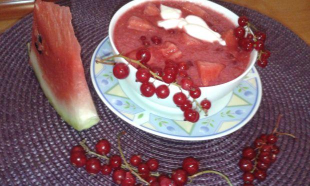 Chłodnik arbuzowo -porzeczkowy