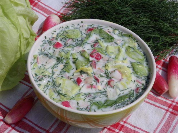 Chłodnik z sałaty i rzodkiewki