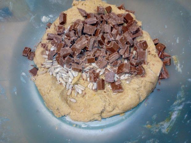 Ciasteczka cappuccino z czekoladą i słonecznikiem