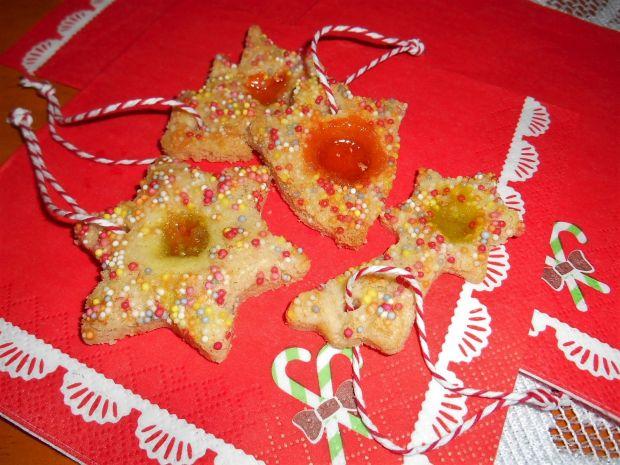 Ciasteczka choinkowe z oczkiem