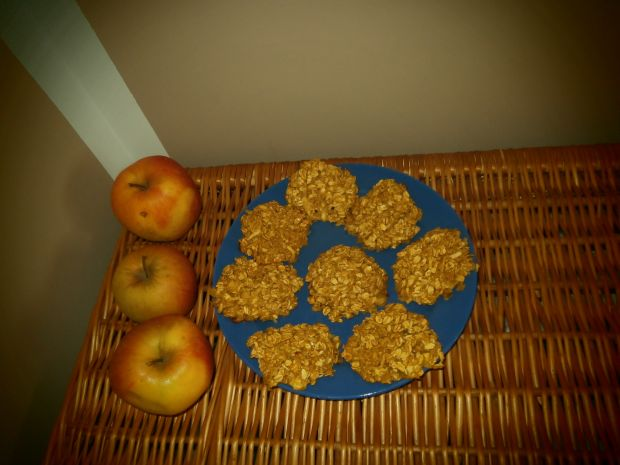 Ciasteczka jabłkowo - owsiane