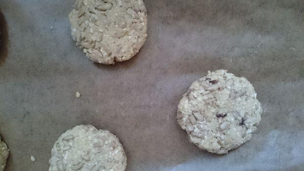 Ciasteczka jaglane/owsiane ze słonecznikiem