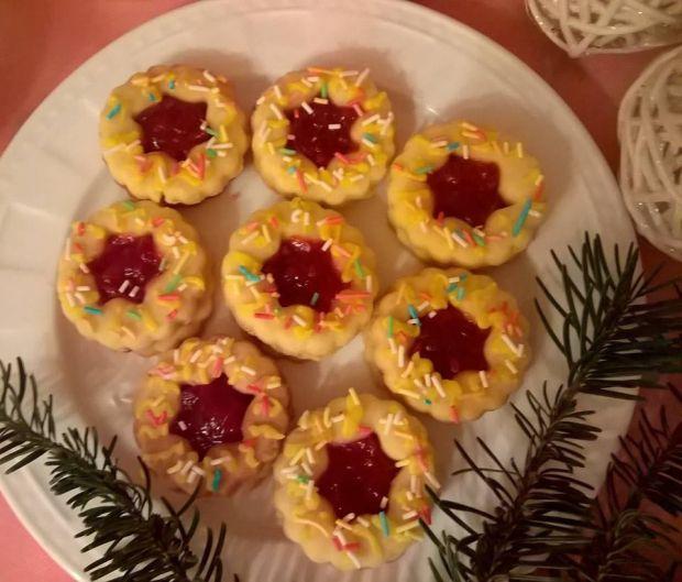Ciasteczka krucho-drożdżowe