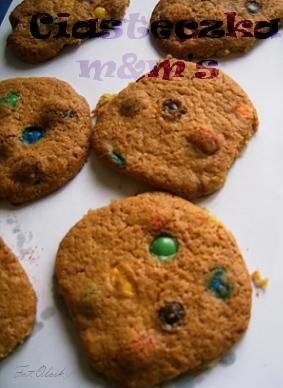 Ciasteczka m&m'sowe na imprezę:)