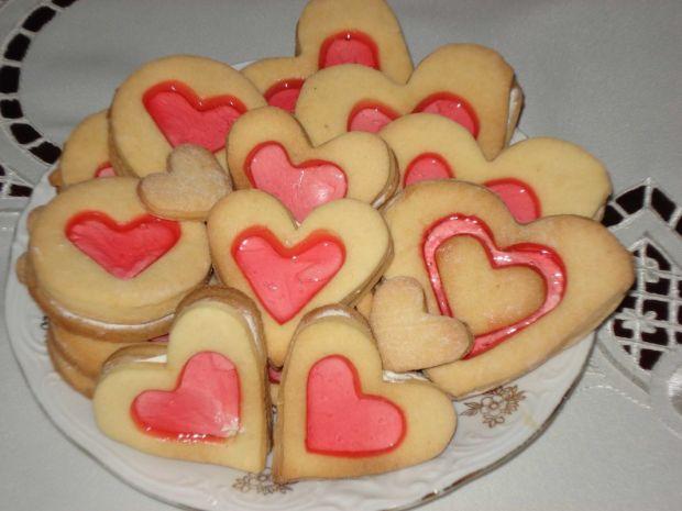 Ciasteczka Serduszka - z galaretką